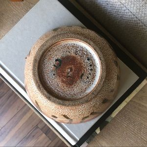 Accents - Mexican Glazed Speckled Boho Pottery Bowl Catchall